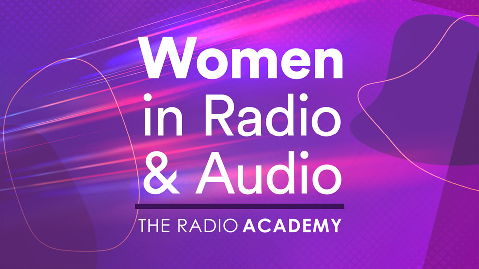 Women In Radio V4 background and logotype copy