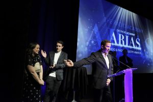Award 11 - Scott and Chris Grace Hopper on stage