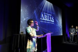 Award 21 - Lorna Clarke on stage