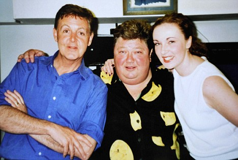 PIX.SHOWS CAPITAL GOLD DJ ERICA NORTH WHO HAS M/S. WITH PAUL MCCARTNEY AND JONO